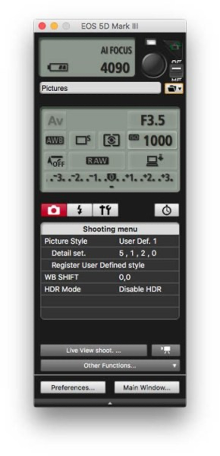 How to Connect Canon camera to the computer while shooting
